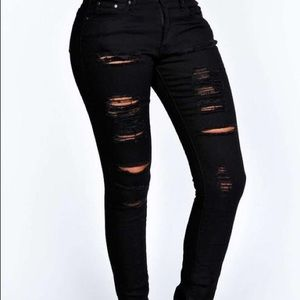 Nasty Gal The Rockn Rev size 2 ripped black jeans